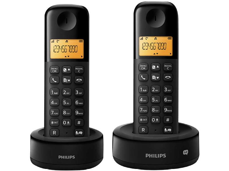 Philips D1352B/38 2er Pack Schnurlostelefon mit Anrufbeantworter für 22€ (Media Markt)