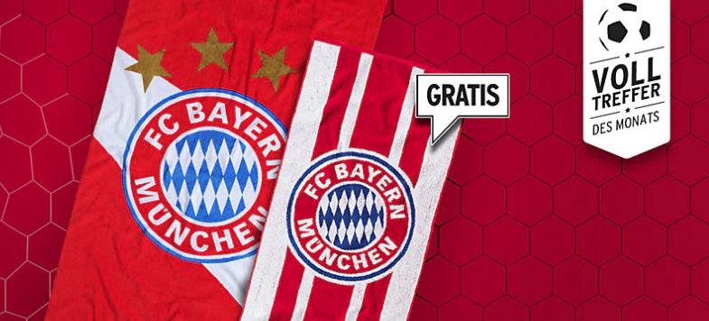 Gratis Handtuch im FC Bayern Fanshop