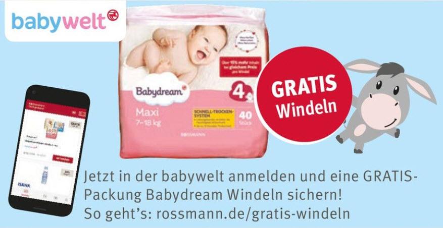 Gratis-Packung Windeln bei Anmeldung in Rossmann-babywelt