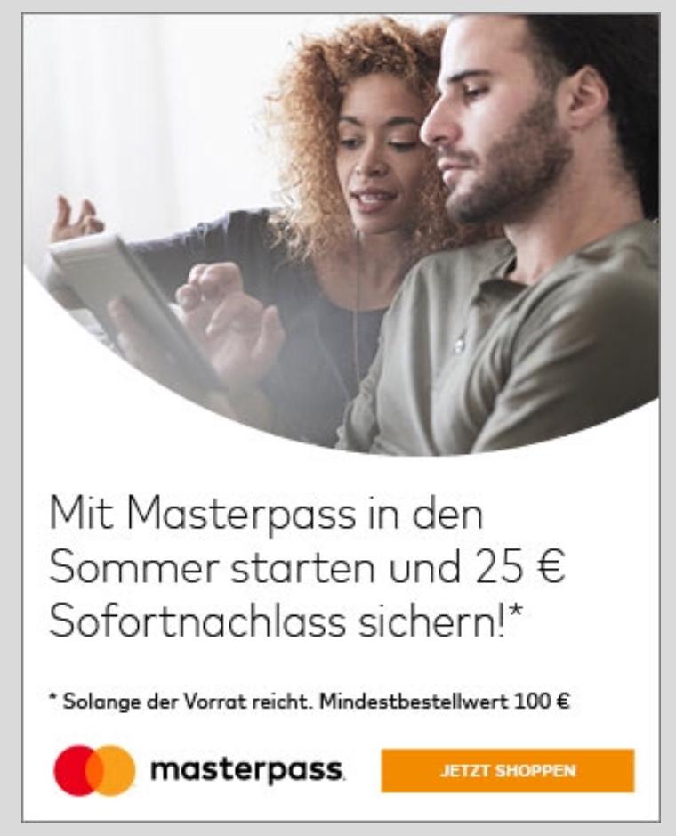 [Alternate] 25€ Rabatt bei 100€ MBW mit MasterPass - z.B. Apple Pencil für 81,18€ usw.
