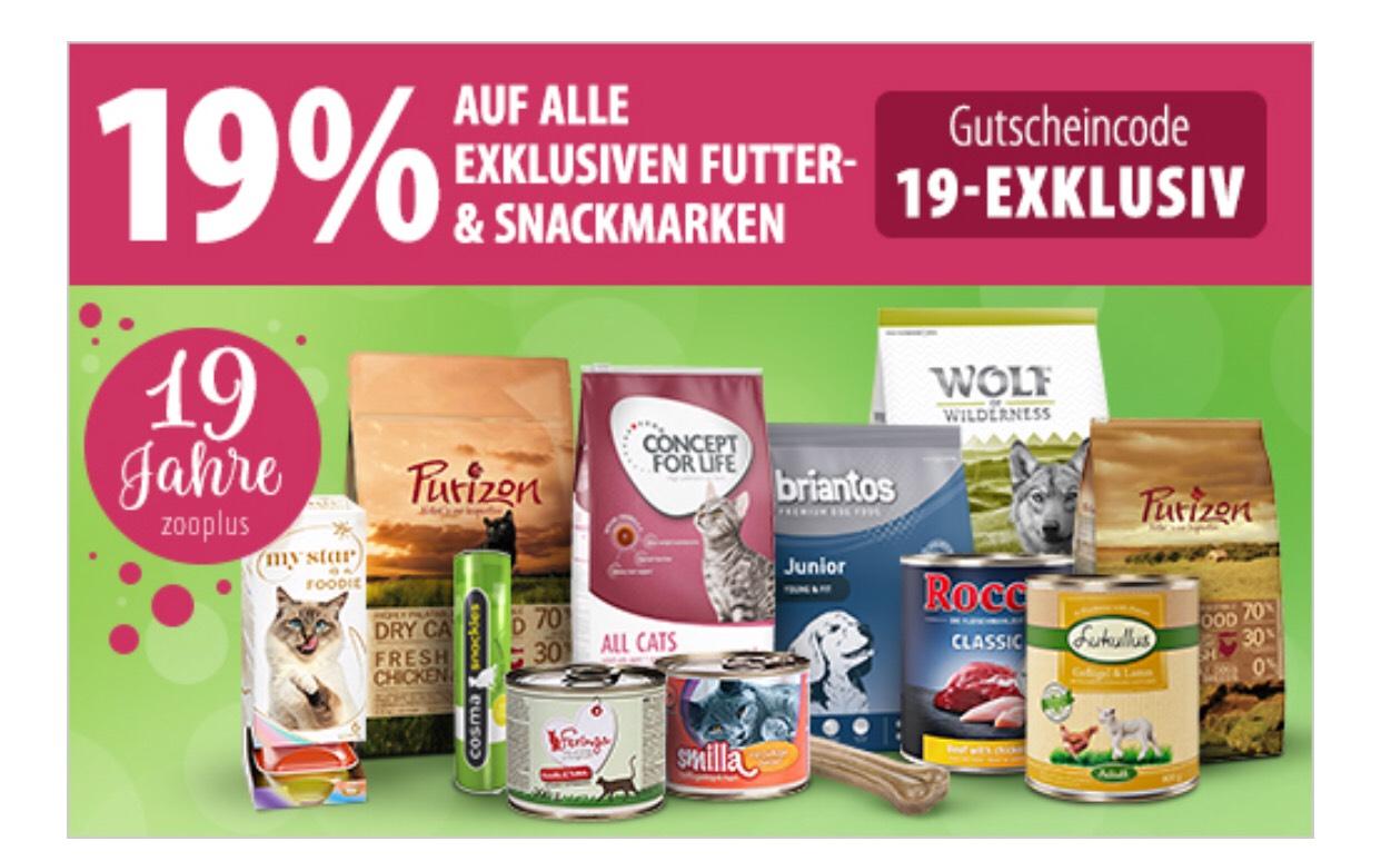 Zooplus.de - 19% Rabatt für Kunden