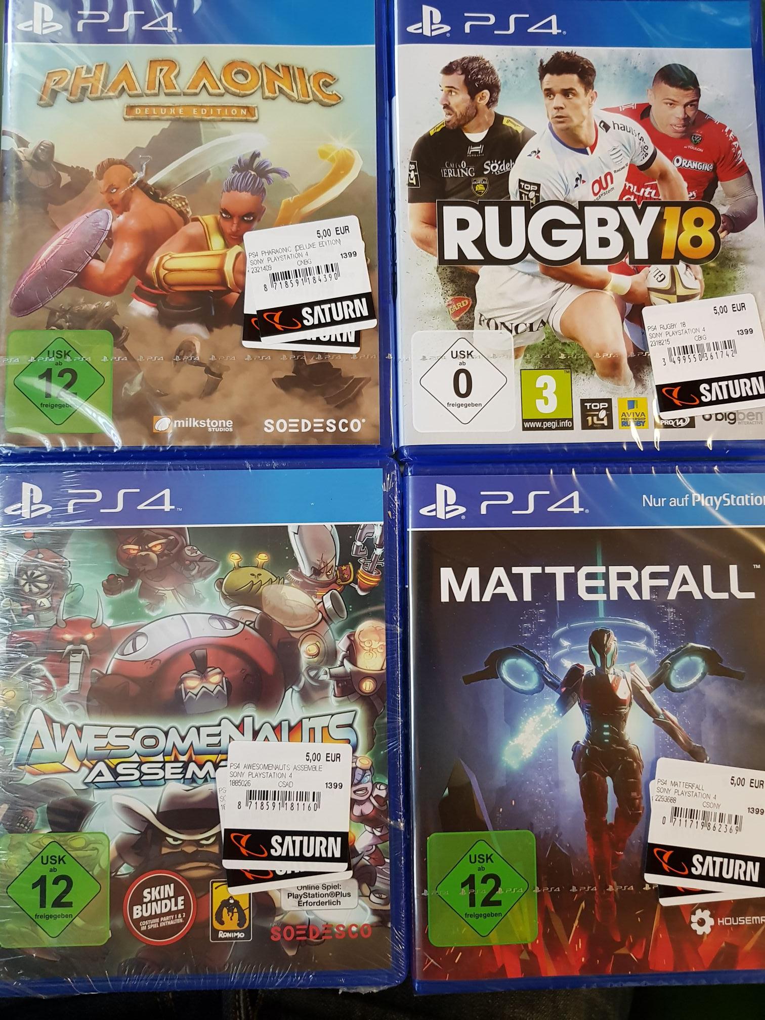 [Lokal Saturn Darmstadt Ludwigsplatz] verschiedene PS4 Spiele für 5€