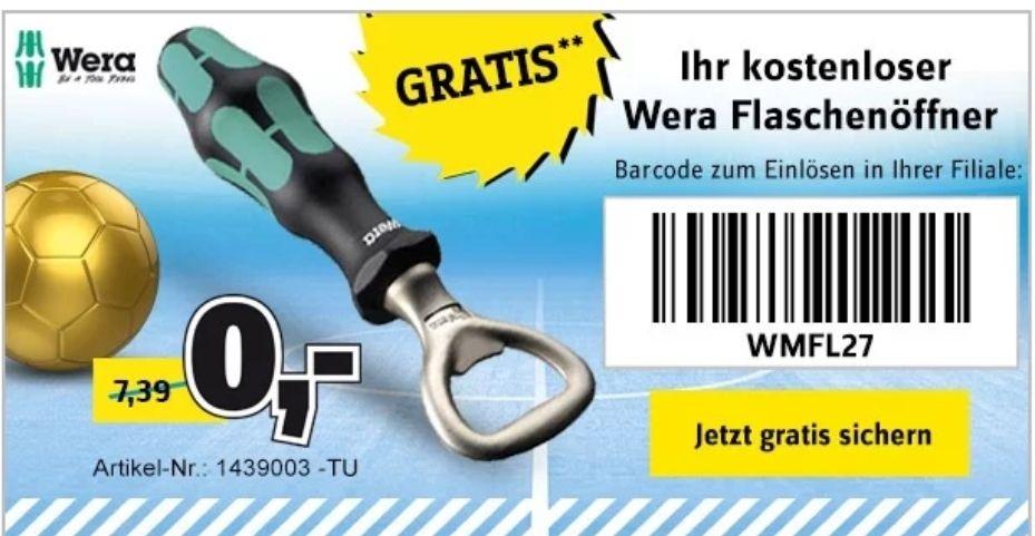 Conrad Kostenloser Flaschenöffner (ab 29 Euro MBW)