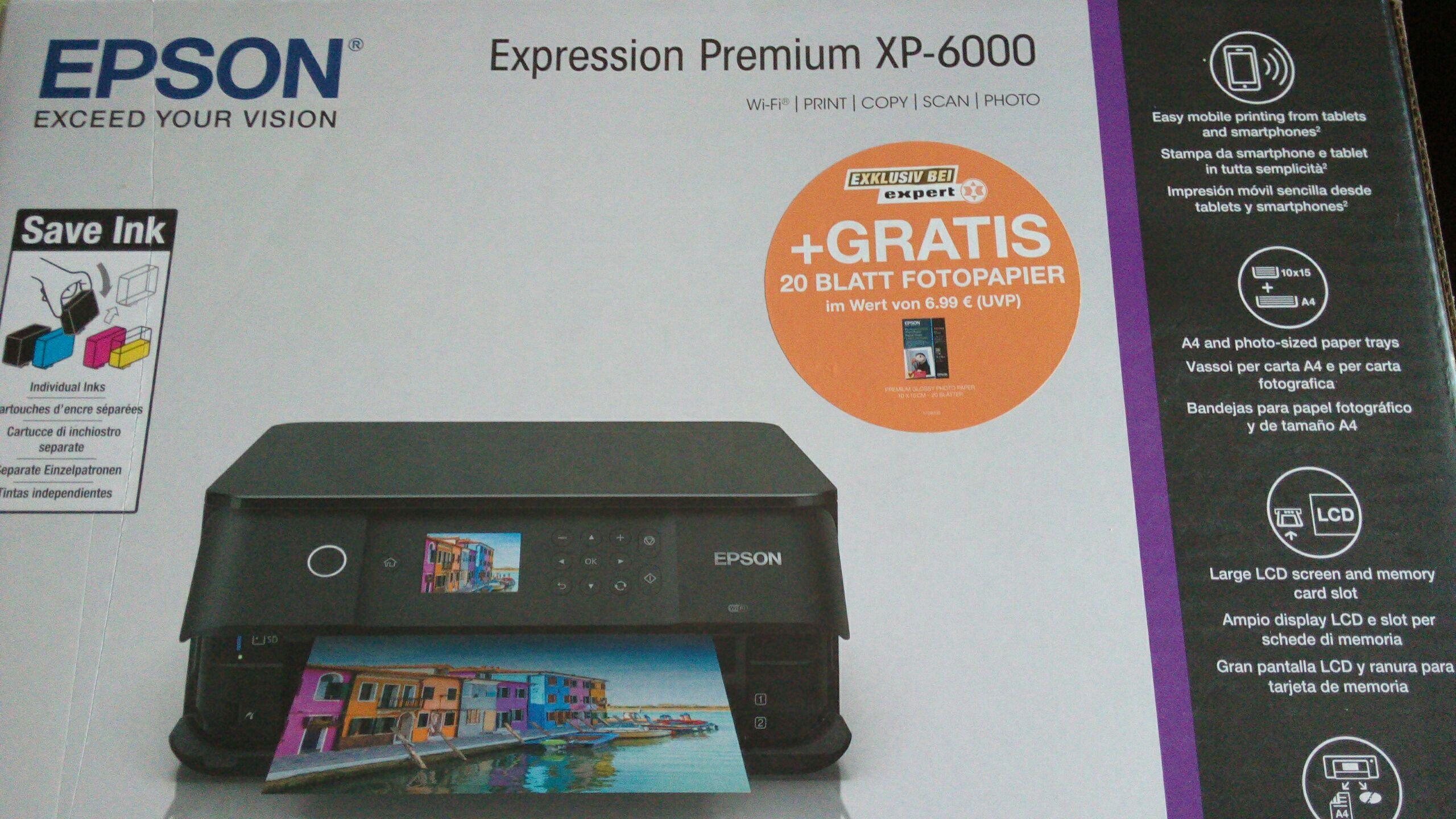 Epson XP 6000 + 20 Blatt Fotopapier