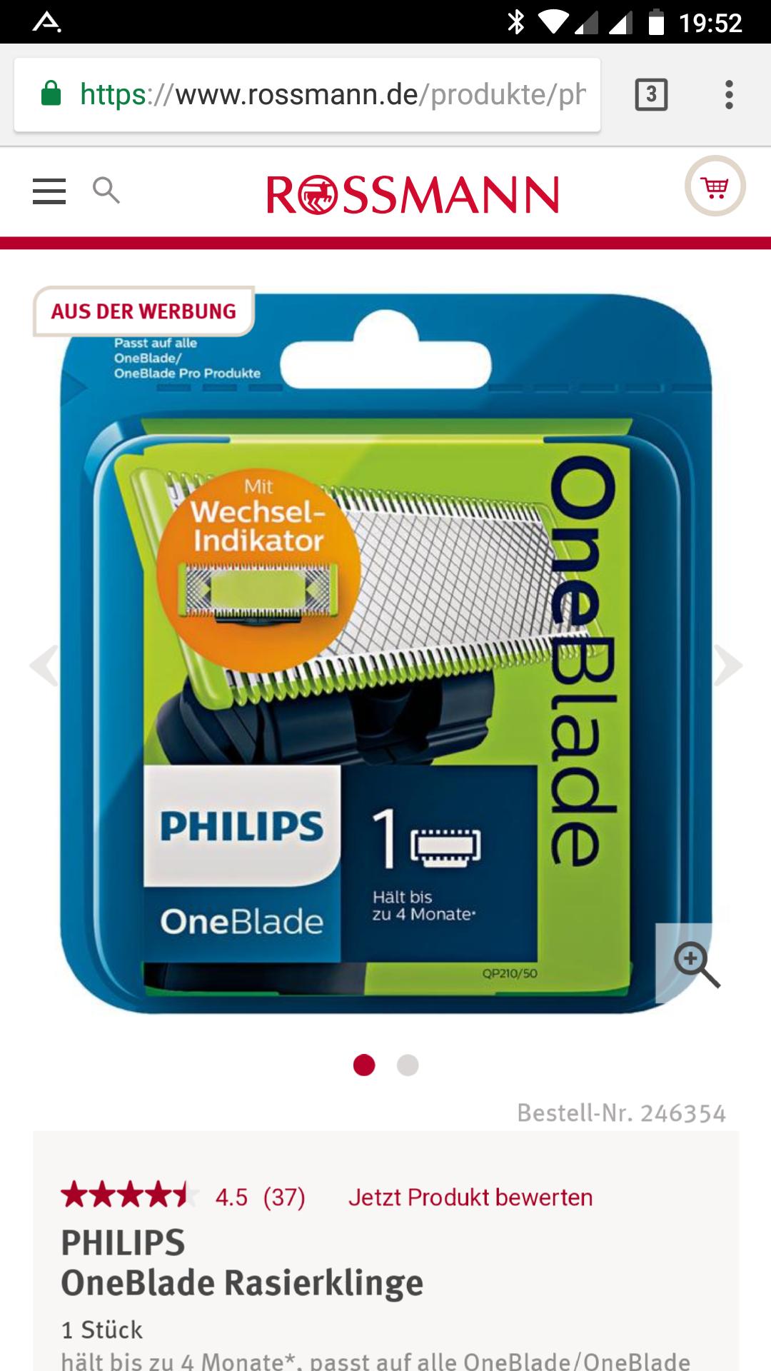 Philips One Blade Ersatzklinge (1 Stck) bei Rossmann