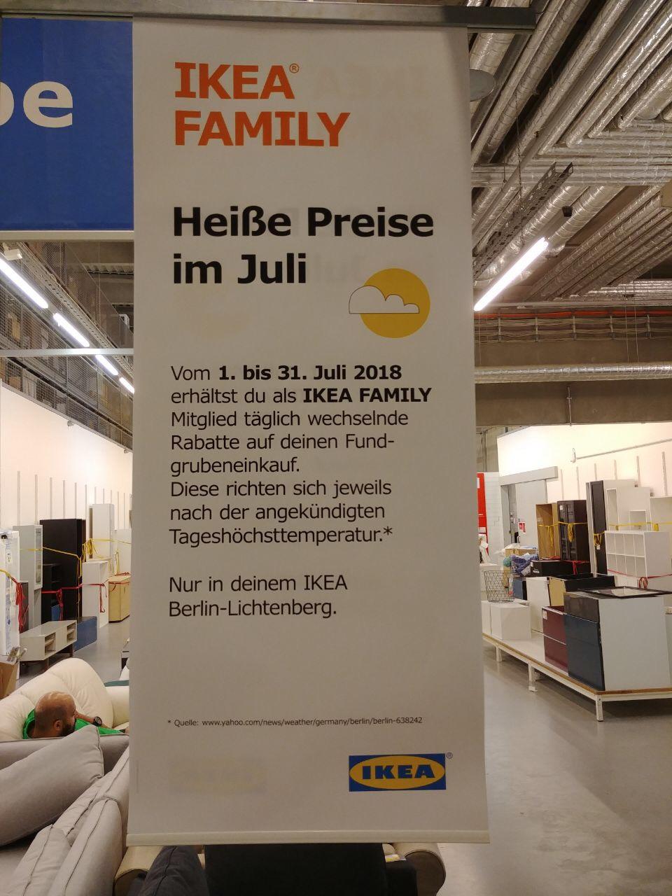 [Lokal IKEA Lichtenberg] zusätzlicher Fundgrubenrabatt je nach Temperatur