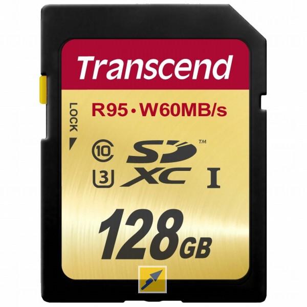 Speicherkarte Transcend SDXC 128GB Class10 UHS-I U3 Ultimate mit Masterpass [TechnikDirekt]