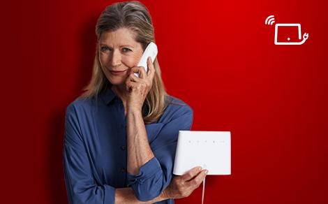 Vodafone Giga ZuhauseTelefon - 2 Jahre für 4,99/Monat zzgl. Anschluss zzgl. Hardware