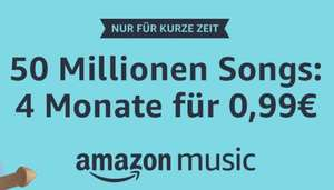 Amazon Music Unlimited 4 Monate für 0,99€ für Neukunden od. 3 Monate für 7,99€ für Bestandkunden [PRIME]