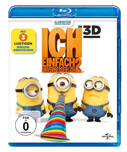 Ich - Einfach unverbesserlich 2 3D (3D Blu-ray + 2D Blu-ray) für 8€ (Amazon Prime)