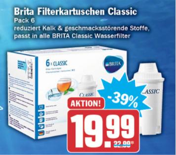 Brita Wasserfilter Classic (6er Pack) - HIT Markt