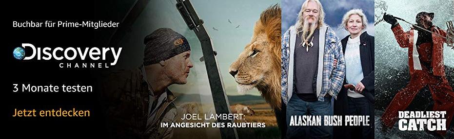 Amazon Prime - 3 Monate Discovery Channel, Cirkus und Filmtastic Gratis