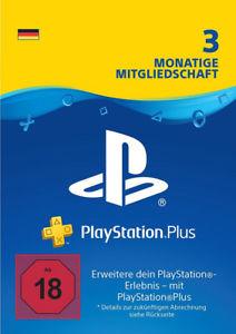 PlayStation Plus 3 Monate für deutsche PSN Konten