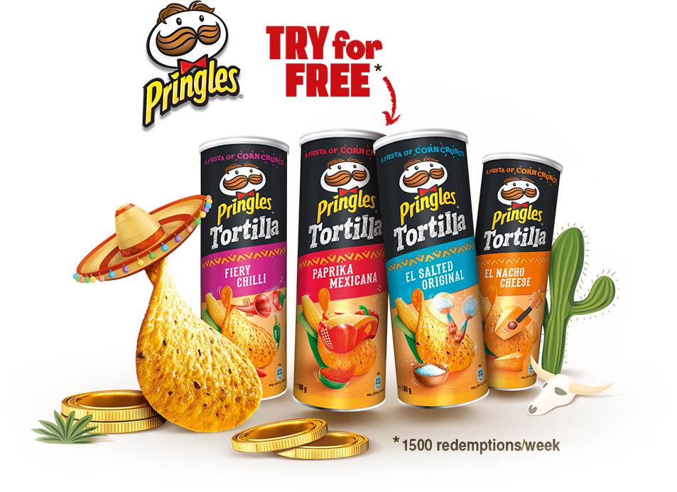 *Gratis testen* Pringles Tortilla Chips verschiedene Sorten 1 Sorte / Haushalt