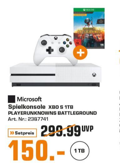 [Regional Saturn Hamburg/Norderstedt-Alle Märkte] Microsoft Xbox One S 1TB + Playerunknown's Battlegrounds für 150,-€ // Star Wars Battlefront II // COD Infinity Warfare und Destiny 2  (alles PS4) für je 9,-€