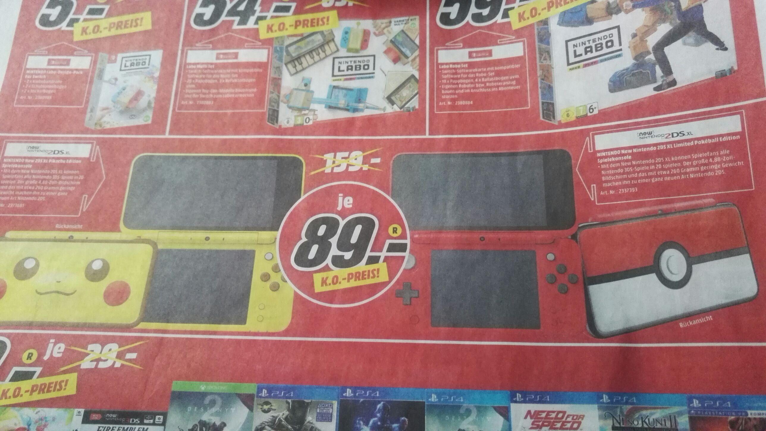 (Lokal Media Markt SLS) New 2DS XL Pokeball/Pikachu Edition für 89€