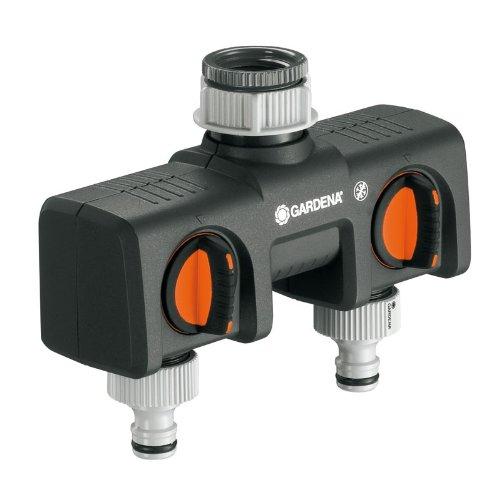 GARDENA 2-Wege-Verteiler (Anschlussmöglichkeit für 2 Geräte an den Wasserhahn) - Amazon Prime