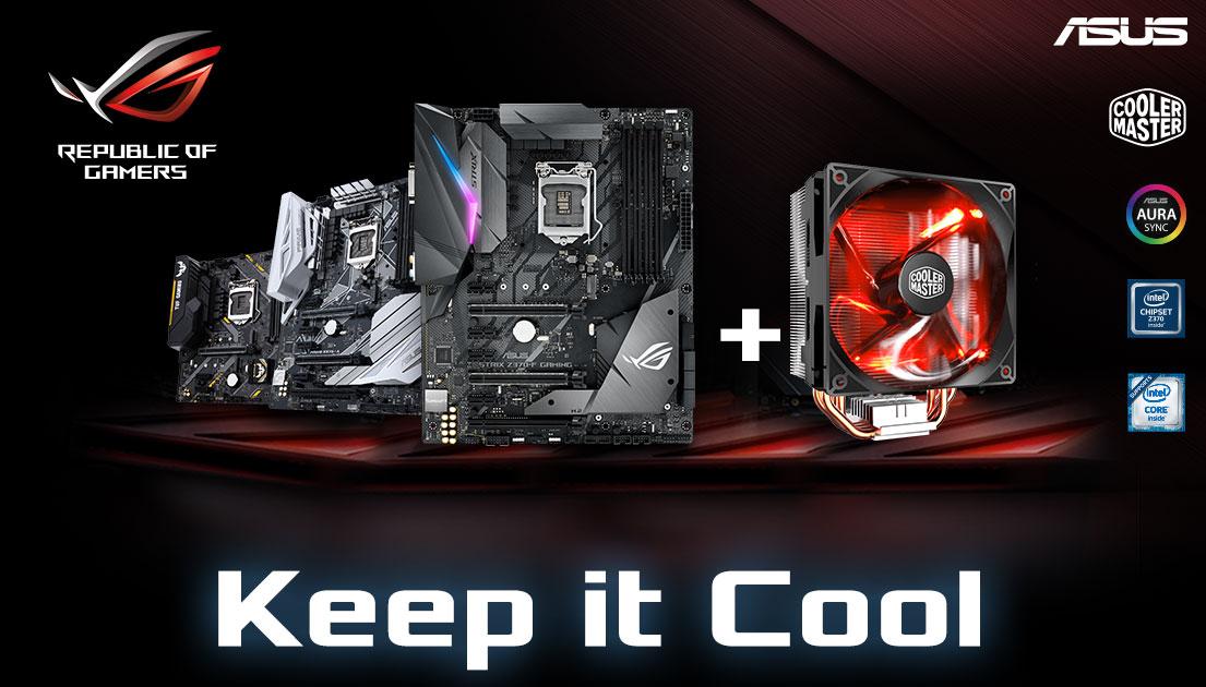 Gratis Hyper 212 LED Kühler beim Kauf diverser ASUS Mainboards für Intel