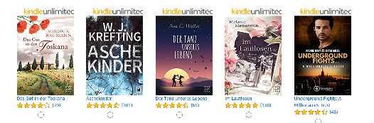 Eins von fünf eBooks gratis [Amazon Prime]