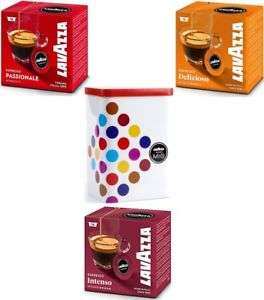 Lavazza A Modo Mio 6er-Pack inklusive Kapseldose (insgesamt 96 Kapseln)