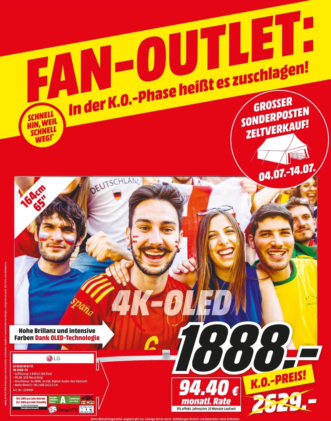 LG OLED65B7D OLED TV 65 Zoll 4K SMART TV für 1.888,-€ [Lokal, Media Markt Gütersloh]