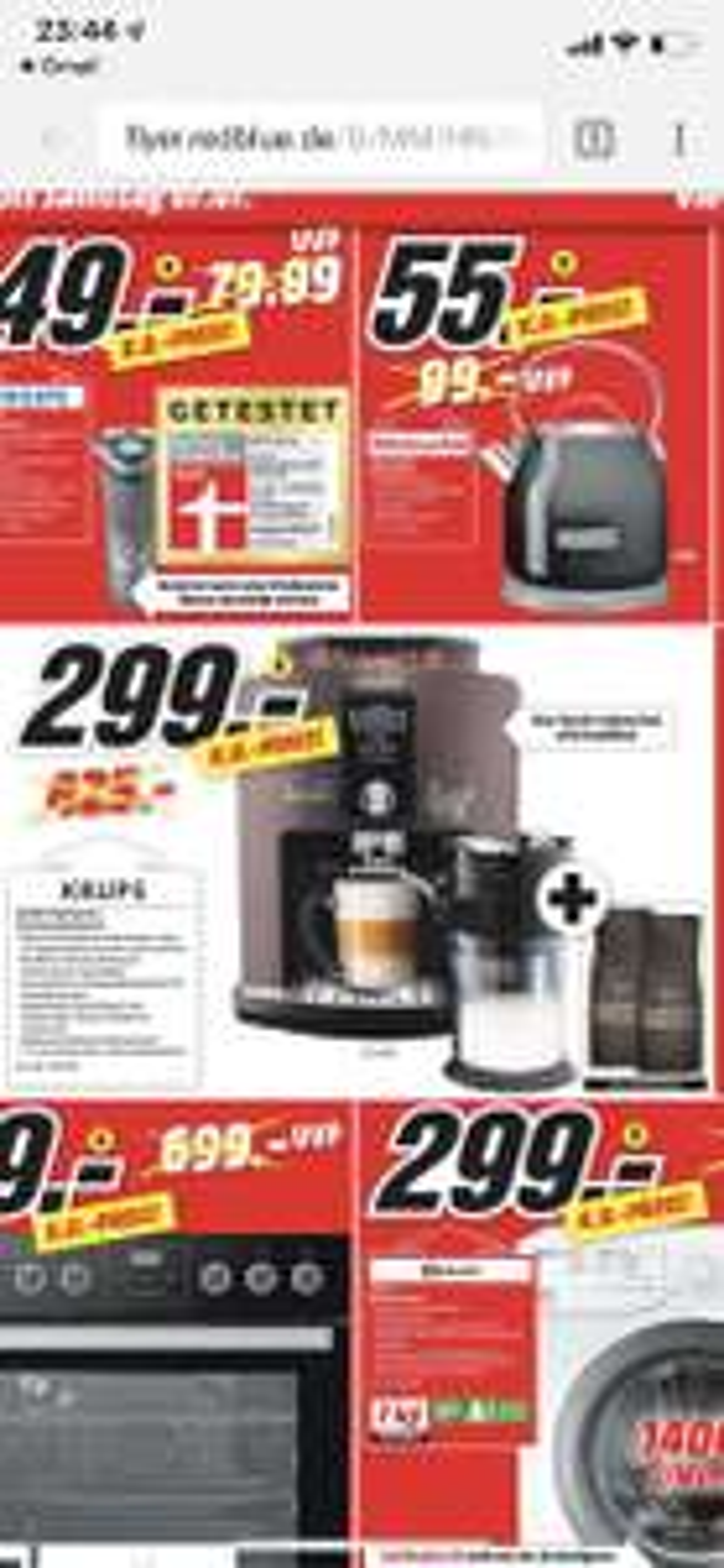 [Regional Mediamarkt Heilbronn] Krups EA 829 P Latte'Espress Espressovollautomat