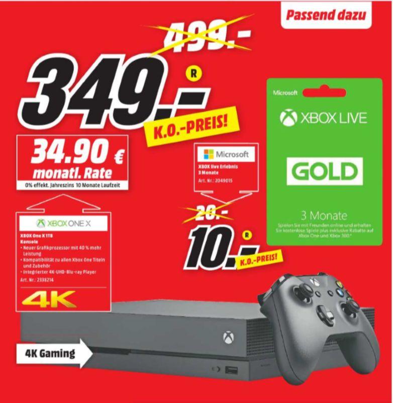 [Regional Mediamarkt Koblenz/Neuwied]  Microsoft Xbox One X 1TB schwarz für 349,-€