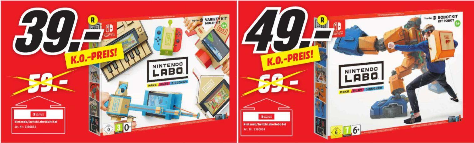 [Regional Mediamarkt Main-Taunus-Zentrum] Nintendo Labo Toy-Con 01 - Multi-Kit für 39€ und Toy-Con 02 - Nintendo Labo Toy-Con 02 - Robot Kit für 49€ (Nintendo Switch)