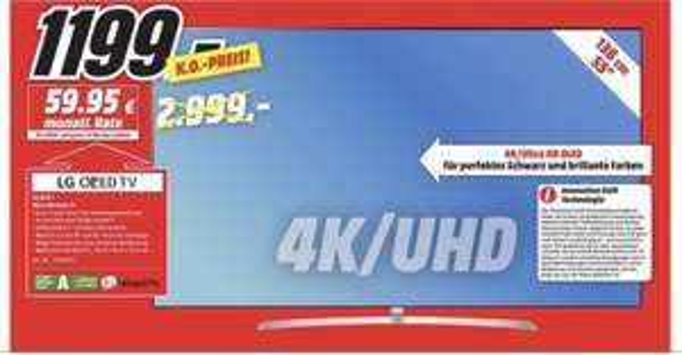 Media Markt Lokal Hamburg: LG 55 B7 OLED 1199€