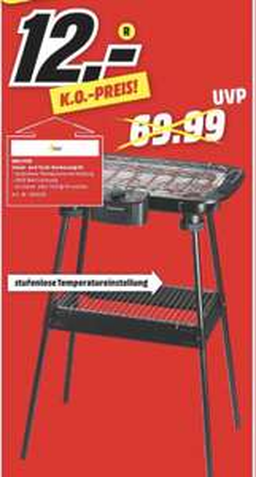 [Regional Mediamarkt Heilbronn] Suntech Elektrogrill mit Gestell