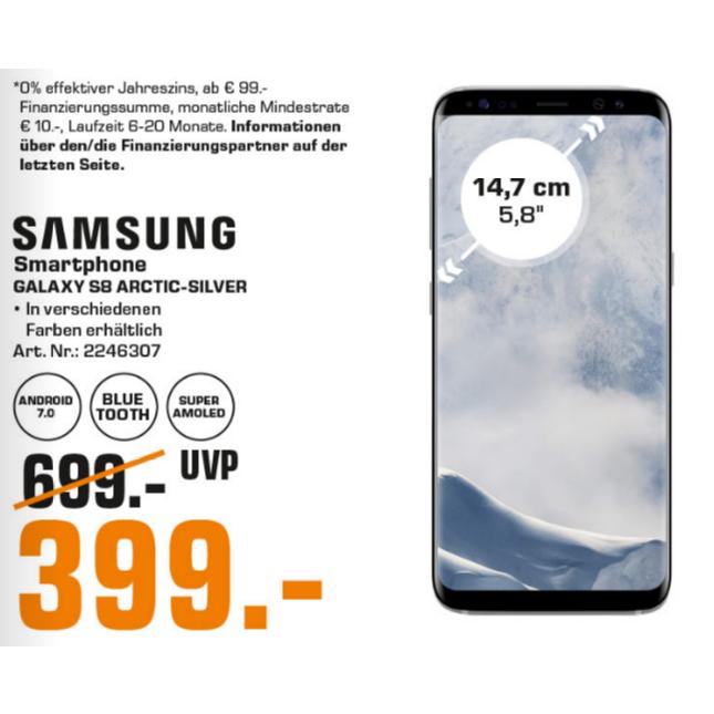 [Saturn Hamburg/Norderstedt] Samsung Galaxy S8 für 399€