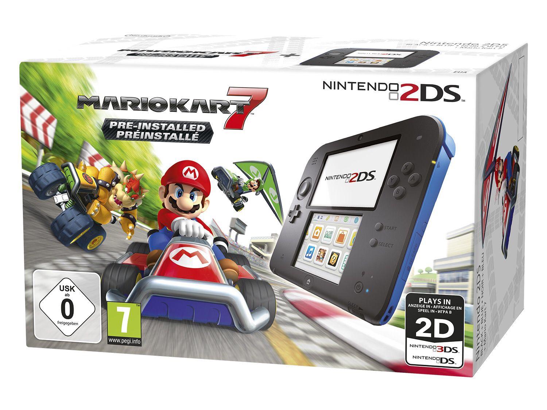 Nintendo 2DS Konsole HW Black + Mario Kart 7 mit NL Gutschein für 69,99€ [Lidl online]