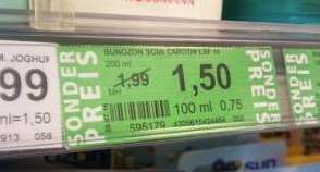 Green Label Preise ab 4.7. (Rossmann bundesweit)