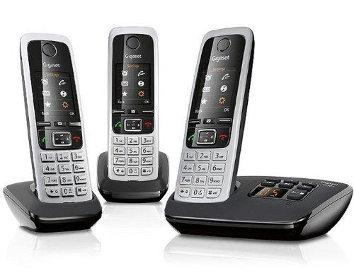 [Amazon WHD] Gigaset C430A Trio Schnurlostelefon - 3 Mobilteile - TFT-Farbdisplay - DECT - Anrufbeantworter