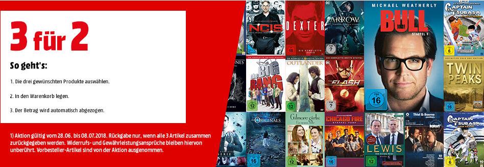 Media Markt - 3 für 2 TV Serien