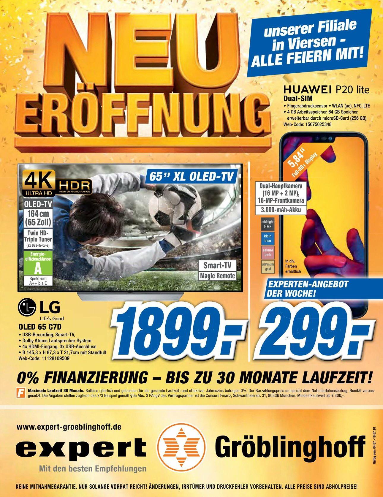 LG OLED65C7D bei Expert Groeblinghoff, Versand möglich
