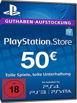 PlayStation Network Card [PSN] - 50 Euro (PS4/PS3/DE)