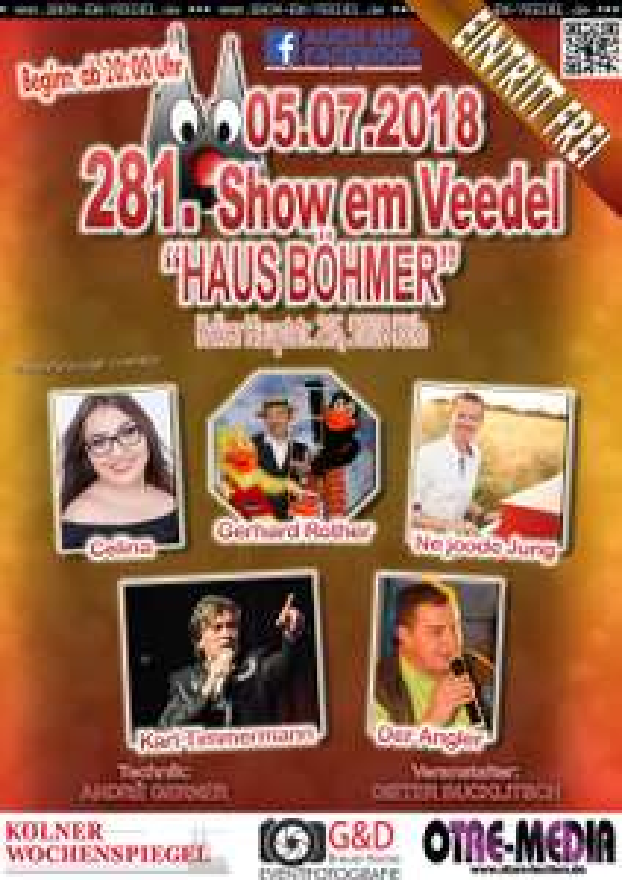 Köln - 281. Show em Veedel - 05.07.2018 - 20 Uhr - Eintritt frei