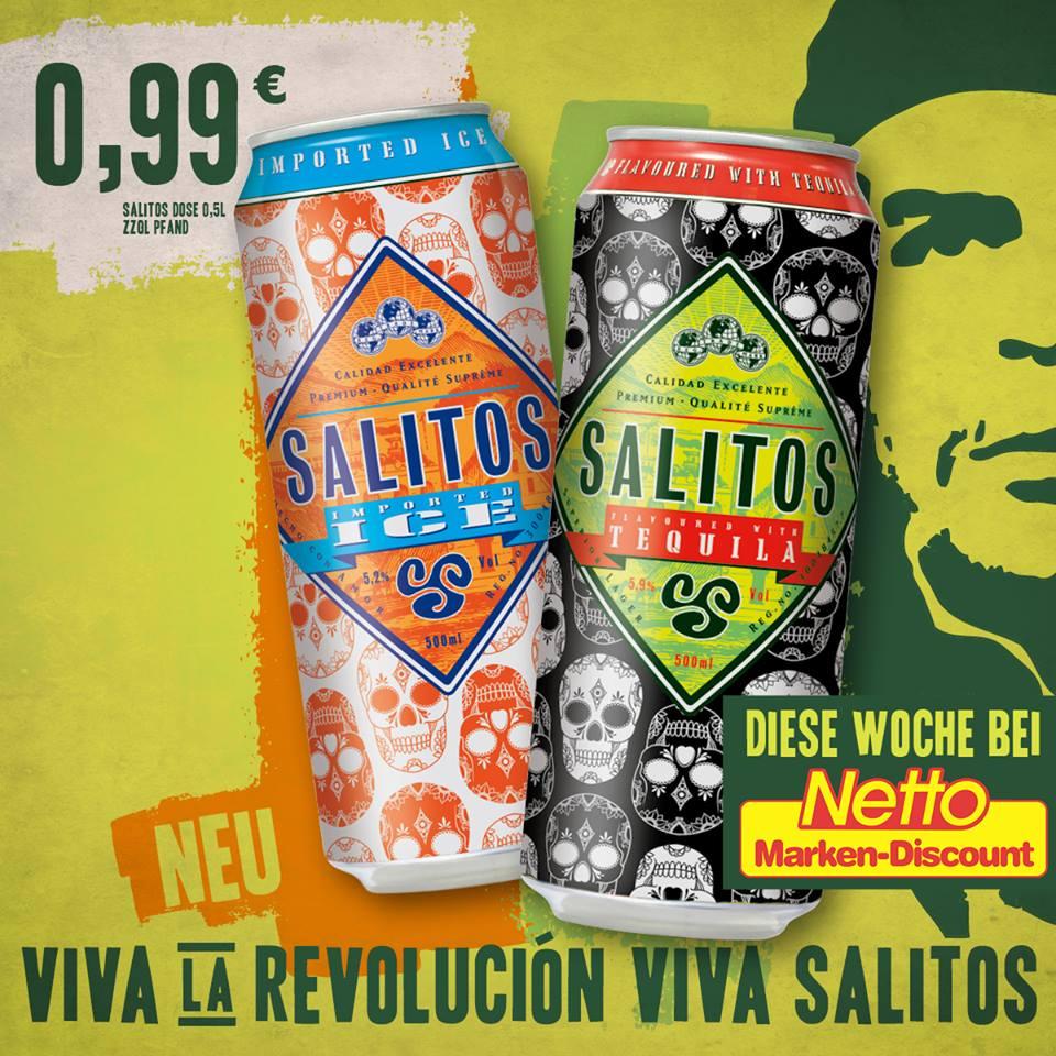 SALITOS Ice und Tequila für 0,99 € zzgl. 0,25 € Pfand bei Netto
