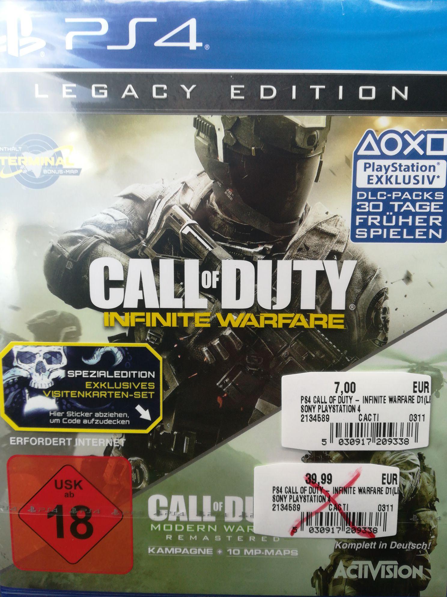 [lokal Schweinfurt] Call of Duty Infinite Warfare Legacy Edition Ps4 Xbox