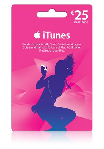 2x25€ iTunes-Guthaben für 38€ (-24%) über [Rakuten-Club + Masterpass]