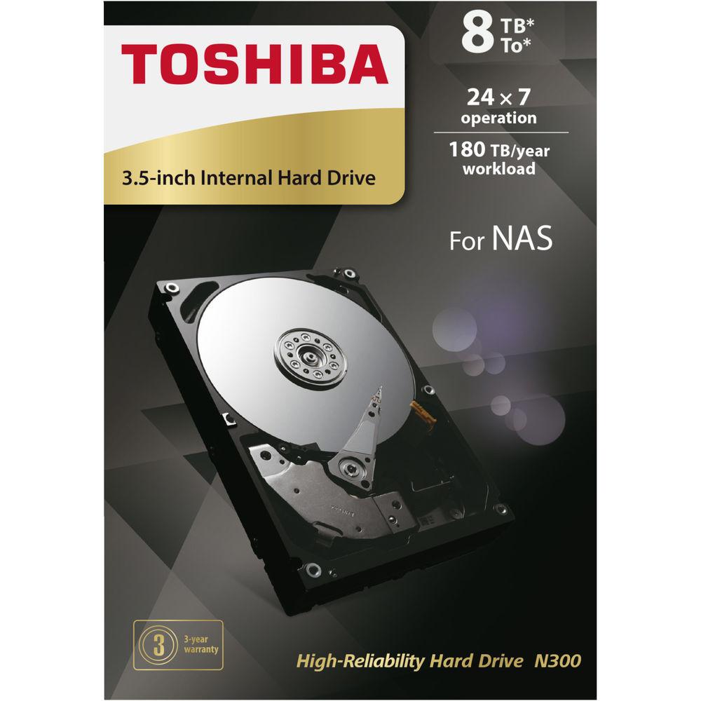 TOSHIBA N300 8 TB NAS FESTPLATTE Retail (HDWN180EZSTA)  FÜR 199,-