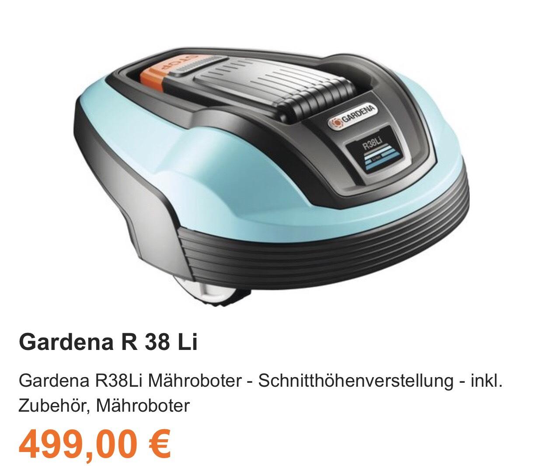Gardena R38Li Mähroboter - Schnitthöhenverstellung - inkl. Zubehör, Mähroboter