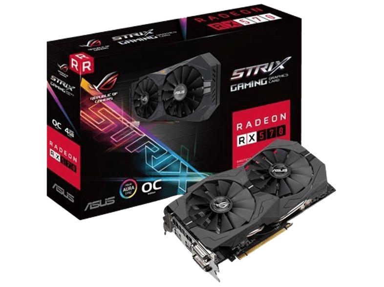 ASUS Radeon RX 570 ROG Strix OC 4GB Gaming (90YV0AJ0-M0NA00)( AMD, Grafikkarte) für 208,-€ [Mediamarkt]