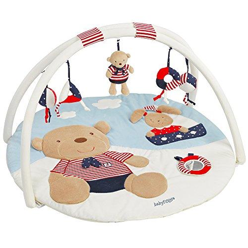 [Amazon oder Galeria] Fehn 078220 3-D-Activity-Decke Teddy | Spielbogen mit 5 abnehmbaren Spielzeugen für Babys Spiel & Spaß von Geburt an | Maße: Ø85cm