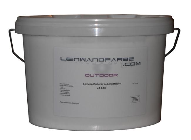 50% Rabatt! WM-Abverkauf: 2,5 Liter Leinwandfarbe Outdoor für 12,5m² Leinwand im Außenbereich