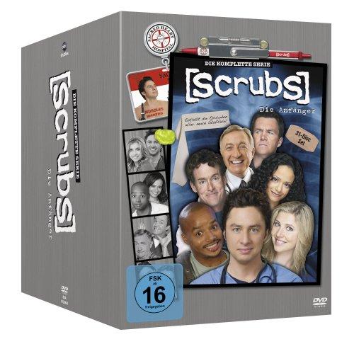[Amazon.es] Scrubs: Die Anfänger - Die komplette Serie, Staffel 1-9 (31 DVD Discs) *Deutsche Box*