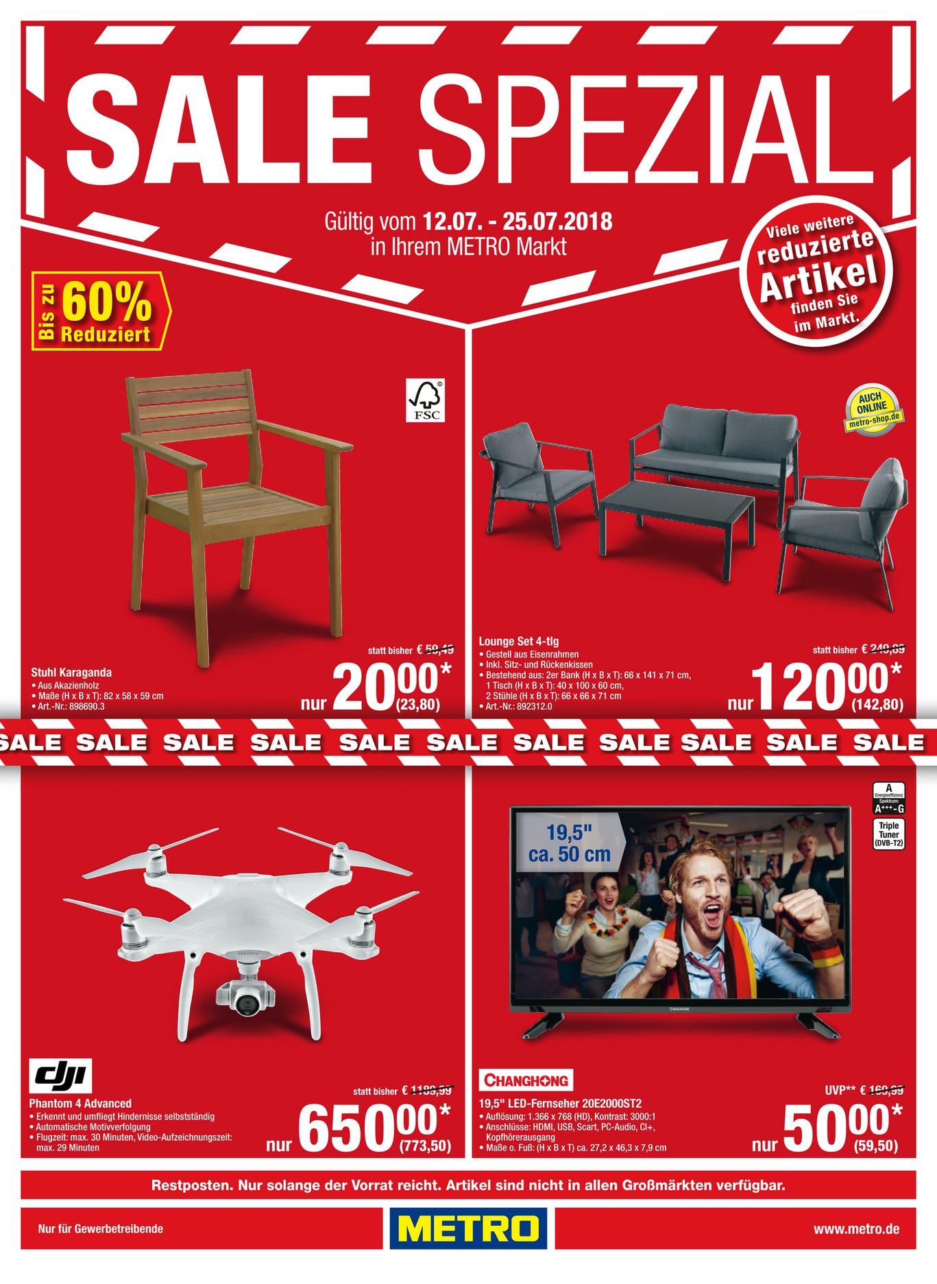 [ Metro ] Sale Ausverkauf ab 12.07. | u.a. DJI Phantom Advanced 773,5€ Tolino Epos 148,75€...
