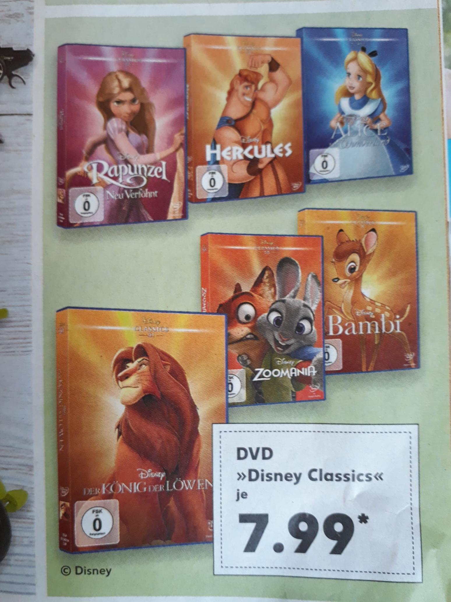 [Kaufland Köln] Zoomania, u. a. Disney Classics, DVD