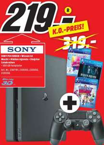 [Lokal MM Köln-Marsdorf] Sony PS4 Slim(?) 500 GB mit 3 Spielen, Deal bis 06.07.2018